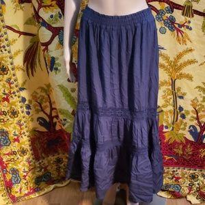 Melrose and Market crochet accent maxi skirt 2X